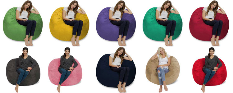 bộ sưu tập gối lười hình tròn đầy đủ màu