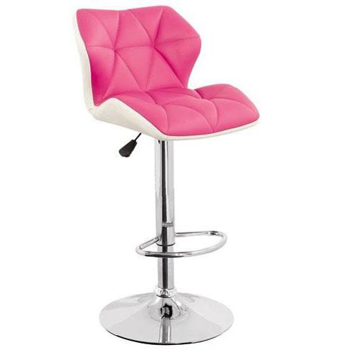 Mua ghế bar inox màu trắng phối hồng