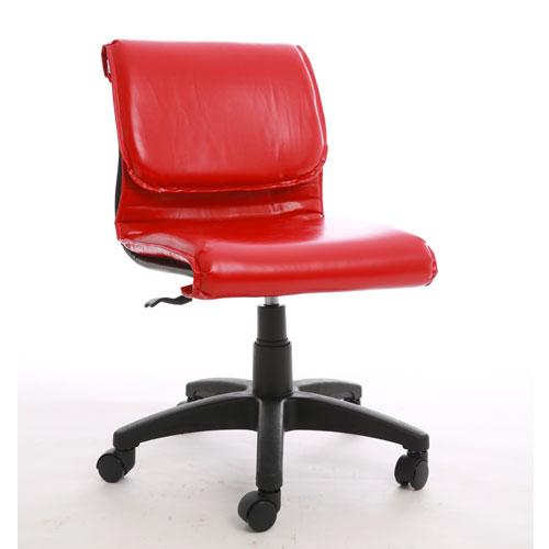 ghế văn phòng màu đỏ không tay