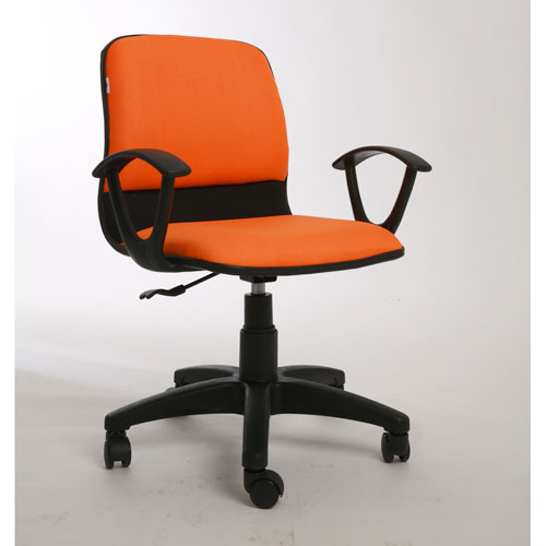 ghế ngồi văn phòng xoay màu cam