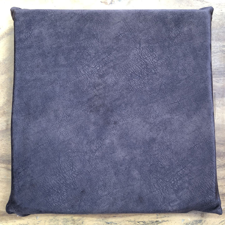 Nệm lót ngồi vải nhung màu xám