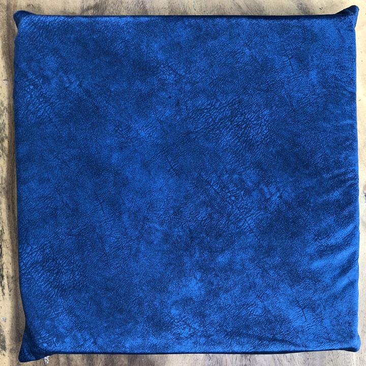 Nệm ngồi vải nhung màu xanh
