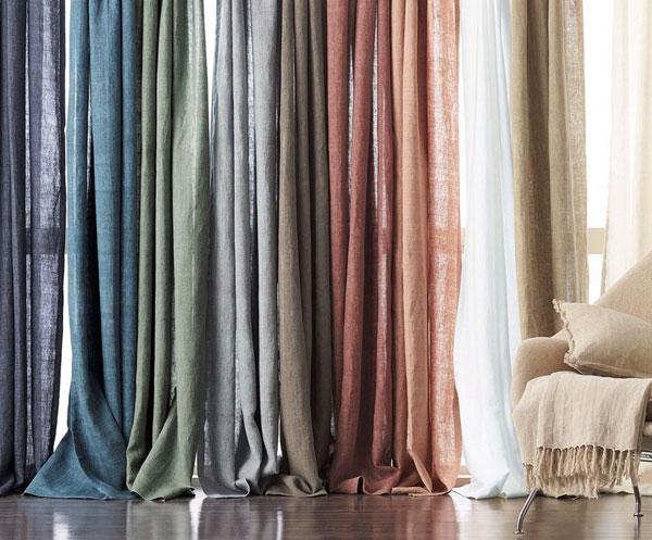 màn vải lanh linen nhiều màu