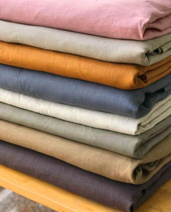 bảng màu màn vải linen