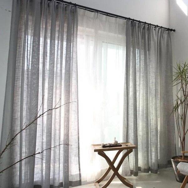 bộ màn vải linen