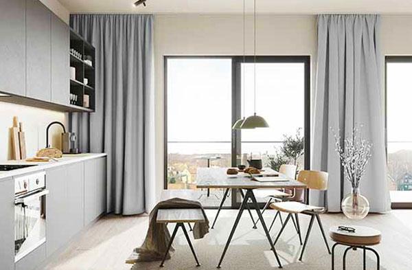 lắp màn vải cho căn hộ chung cư