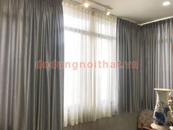 bộ rèm màn cửa vải theo yêu cầu khách ở hcm