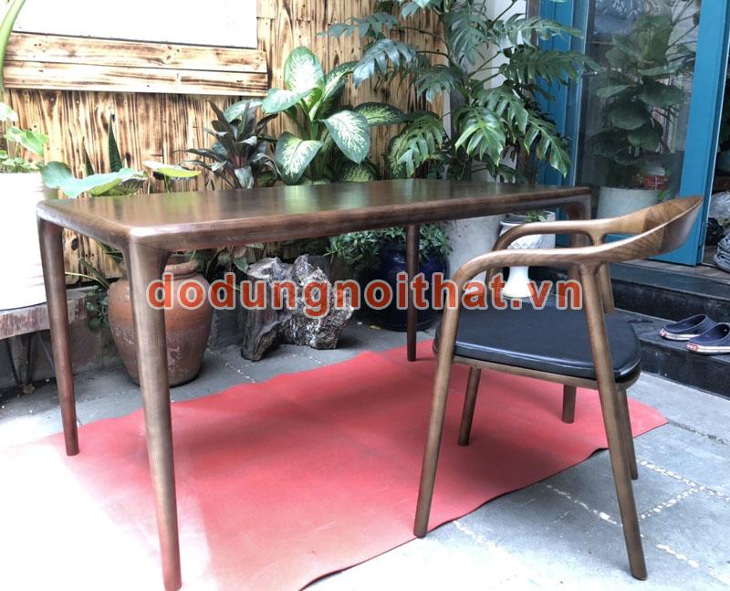 bộ bàn ghế quán cafe bằng gỗ tự nhiên cao cấp
