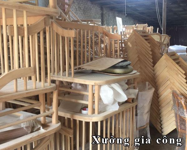 xưởng chuyên nhận gia công ghế gỗ bàn ăn sỉ lẻ ở hcm